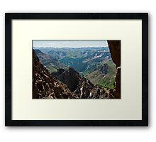 Looking Down Lavender Coliour Framed Print