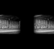 Graffiti on  the blvd.  by VMMGLLC