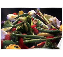 A Pan of Vegetables Poster