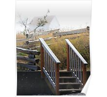 August mist building stairs Poster