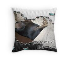 Doggone Days Throw Pillow