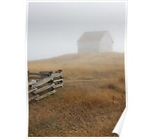 August mist building fence Poster