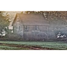 Foggy Morning Mill Photographic Print