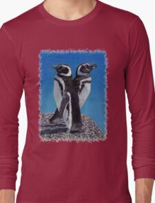 Cute Penguins T-Shirt Long Sleeve T-Shirt
