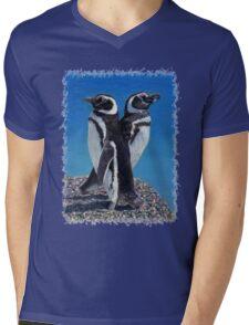 Cute Penguins T-Shirt Mens V-Neck T-Shirt