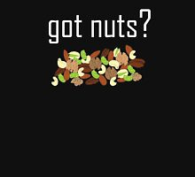 got nuts? (pile of nuts) <white text> Women's Fitted Scoop T-Shirt