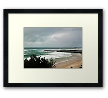 The Empty Beach - Duranbah Framed Print