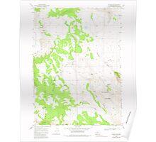 USGS Topo Map Oregon Collins Rim 279405 1968 24000 Poster