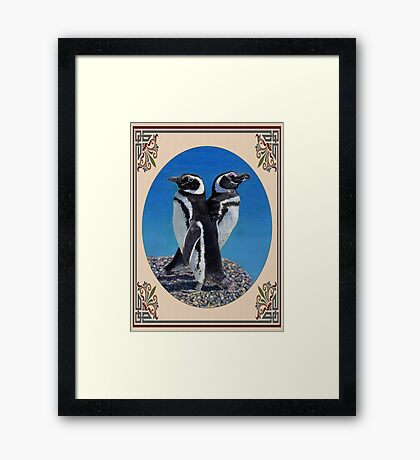 Cute Penguin Greeting Card - Any Occasion Framed Print