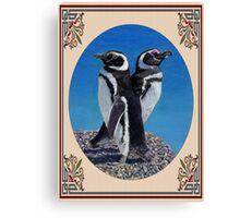 Cute Penguin Greeting Card - Any Occasion Canvas Print