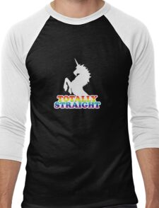 Totally Straight Men's Baseball ¾ T-Shirt