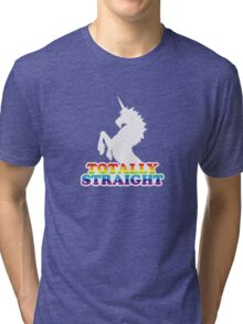 Totally Straight Tri-blend T-Shirt