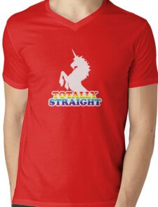 Totally Straight Mens V-Neck T-Shirt