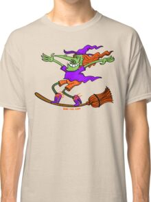 Crazy Witch Surfing on her Broom Classic T-Shirt