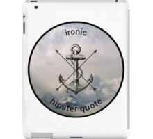 Ironic Hipster Edit iPad Case/Skin