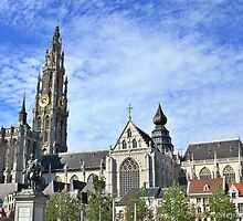View from Groenplaats market square, Antwerpen. by Stephanie Owen