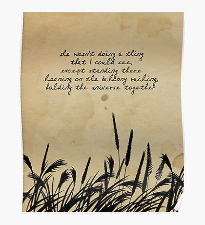 JD Salinger Quote Poster