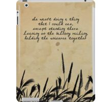 JD Salinger Quote iPad Case/Skin