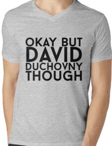 David Duchovny Mens V-Neck T-Shirt