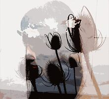 Teasels and the girl by redcow