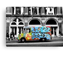 mobile grafitti Canvas Print