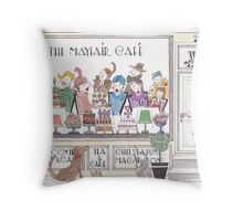'The Mayfair Cafe' Throw Pillow