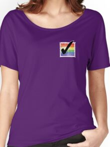 Gay? Tick! (For darker colours) Women's Relaxed Fit T-Shirt