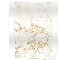 USGS Topo Map Oregon Clover Swale 279382 1971 24000 Poster