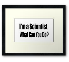 Scientist Framed Print