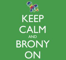 Keep Calm and Brony On - Pink / Dark Red Kids Clothes