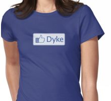Facebook. Dyke Womens Fitted T-Shirt