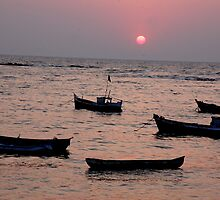 sunset in mumbai by vikram sharma