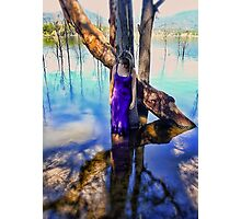 At one with the Landscape Photographic Print
