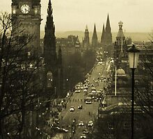 Princess Street, Edinburgh, Scotland, UK by GemaLA