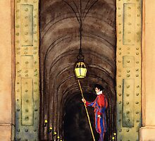 Papal Swiss Guard by Ramona Frederickson