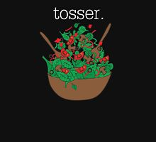 tosser. (salad)  <white text> Women's Fitted Scoop T-Shirt