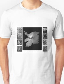 Pretty Petals II Black and White Unisex T-Shirt