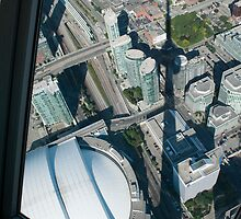 The Shadow of the Tower from the Skypod by Gary Chapple