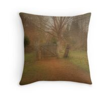 Gate at Golden Valley Throw Pillow
