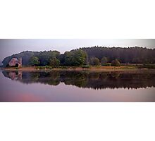The Old Stone Church Wachusetts Resevoir Pano Photographic Print