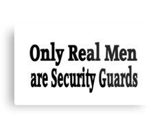 Security Guard Metal Print