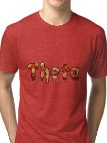 Kappa Alpha Theta Pizza Tri-blend T-Shirt