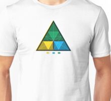 Work equals Force times distance Tetractys Triangle Unisex T-Shirt