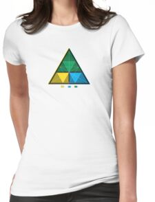 Work equals Force times distance Tetractys Triangle Womens Fitted T-Shirt