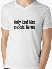 Social Worker Mens V-Neck T-Shirt