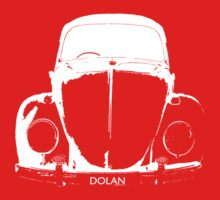 VW Beetle - White DOLAN - personalised Kids Tee