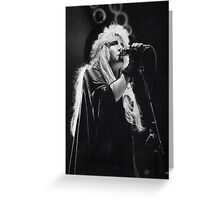 Stevie Nicks (graphite drawing) Greeting Card
