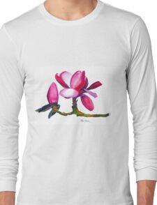 """Marwood Spring"" Magnolia Watercolor Long Sleeve T-Shirt"