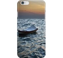 BOAT SUNSET SEA iPhone Case/Skin