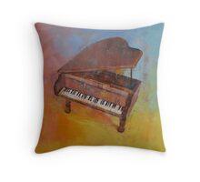 Toy Piano Throw Pillow